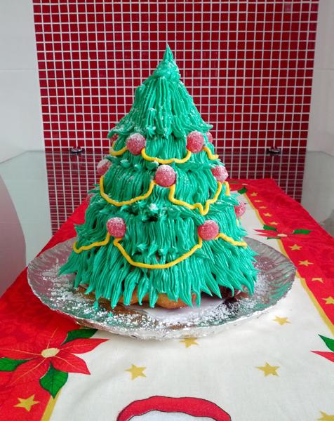 Bolo de Árvore de Natal