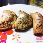 Pastel integral de forno com recheio de maçã